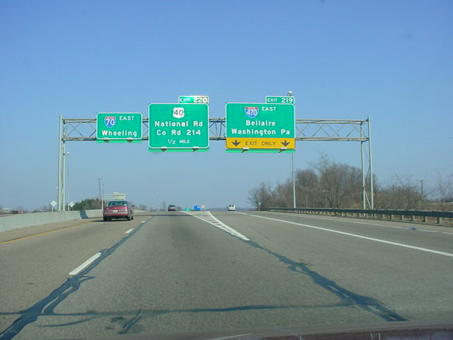 Interstate 70 East at Exit 219 - Interstate 470 East