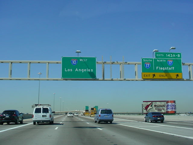 Okroads interstate 10 interstate 10 west at exits 143a b interstate 17 flagstaff photo taken 31604 sciox Choice Image