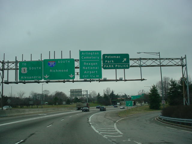 Interstate 395 South at Potomac Park