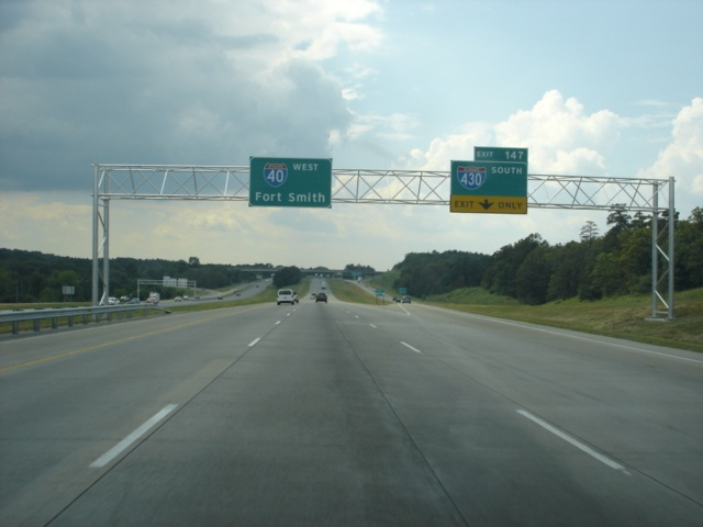 Interstate 40 West at Exit 147 - Interstate 430 South