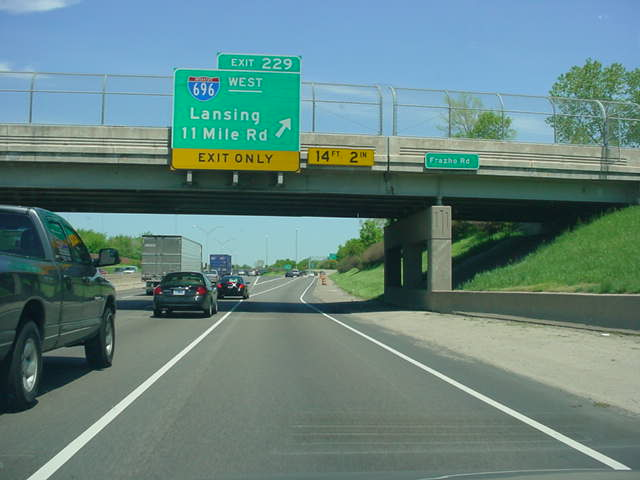 Interstate 94 East at Exit 229 - Interstate 696 West