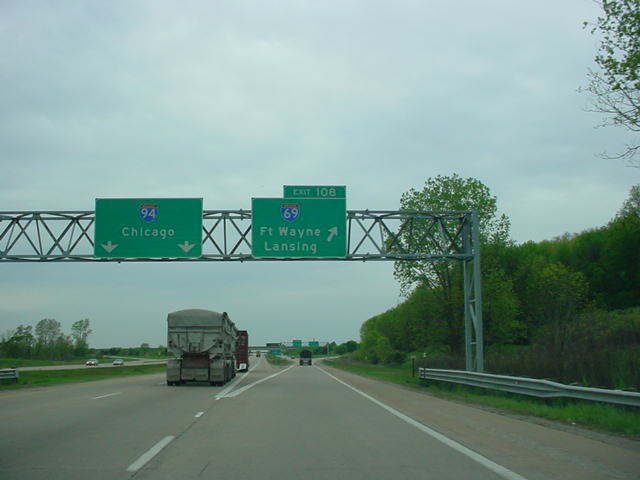 Interstate 94 West at Exit 108 - Interstate 69