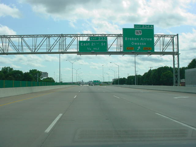Interstate 44 West at Exit 234A - U.S. 169