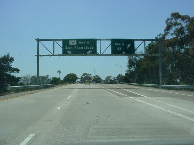 California 126 West at Exit 1B - Main St.