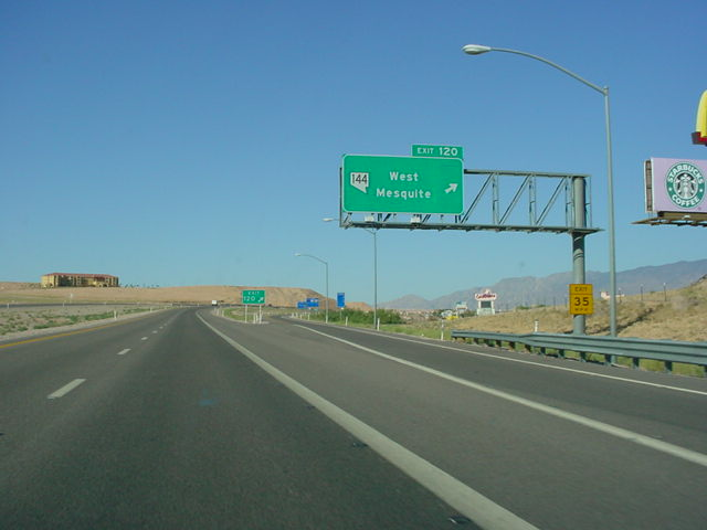 Interstate 15 North at Exit 120 - Nevada 144