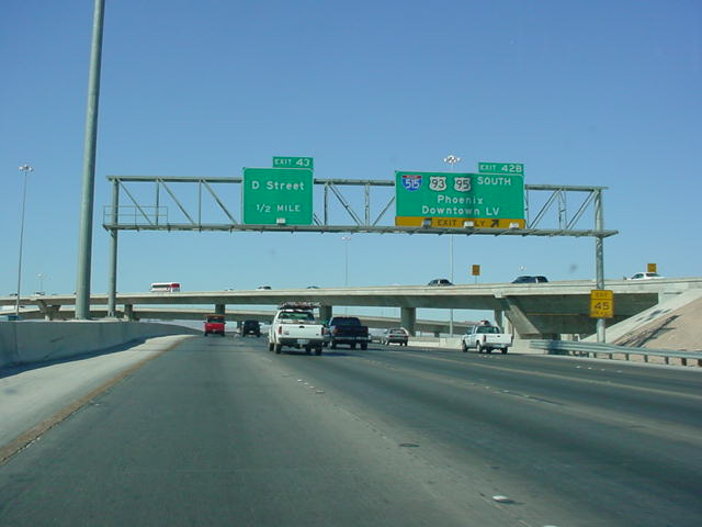 Interstate 15 North at Exit 42B