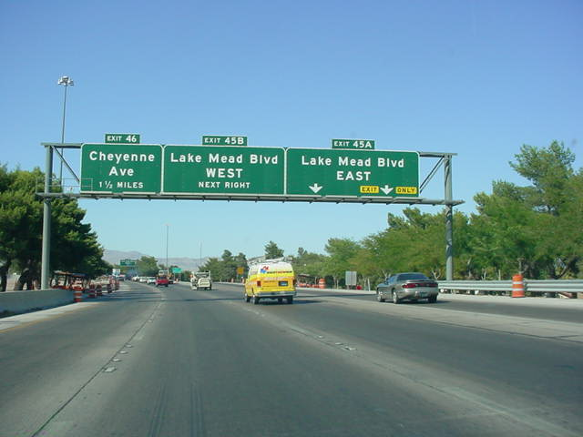 Interstate 15 North at Exit 45A