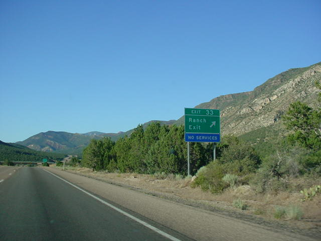 Interstate 15 North at Exit 33 - Ranch Exit