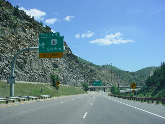 Interstate 70 East at Exit 244 - U.S. 6