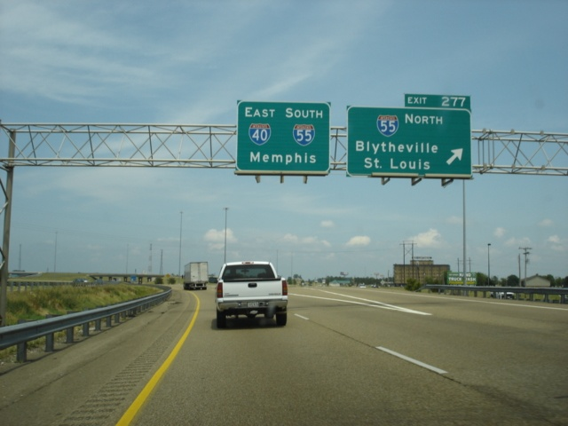 Interstate 40 East at Exit 277 - Interstate 55 North