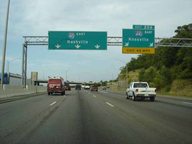 Interstate 40 East at Exit 206 - Interstate 440 East