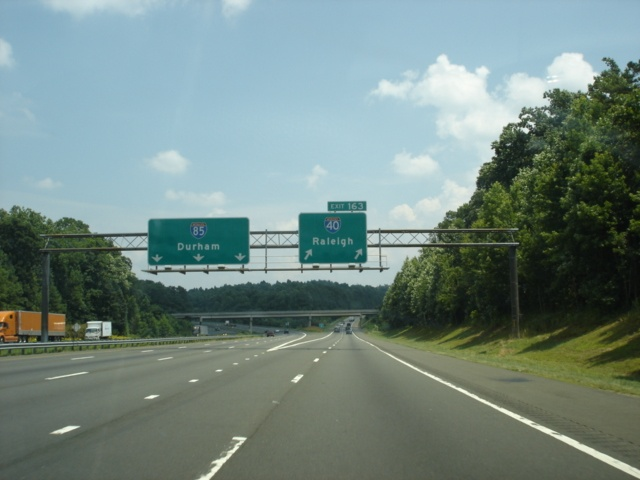 Interstate 40 East/Interstate 85 North at Exit 163 - Interstate 40 East