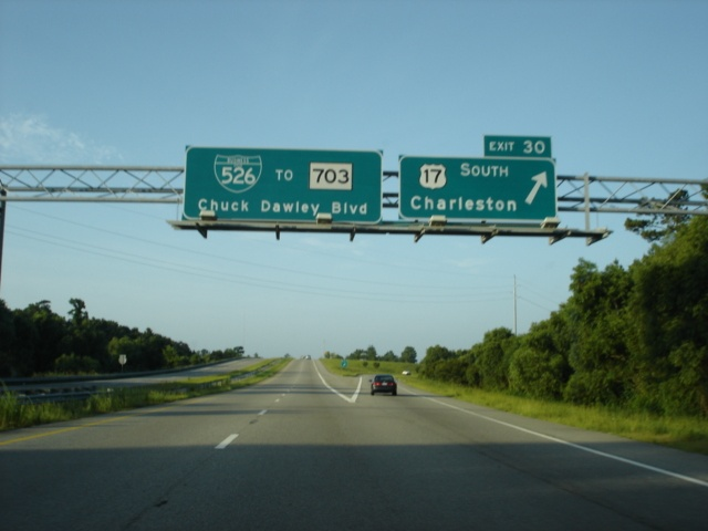 Interstate 526 East at Exit 30 - U.S. 17 South