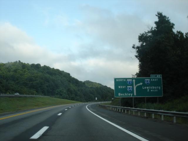 Okroads Interstate 77 West Virginia Northbound