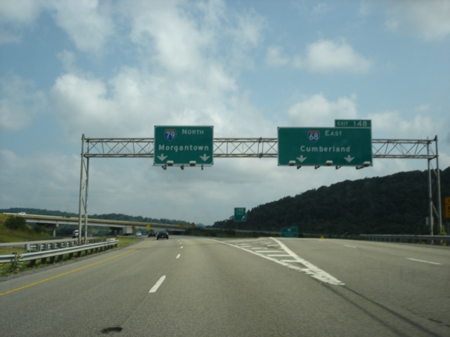Interstate 79 North at Exit 148 - Interstate 68 East