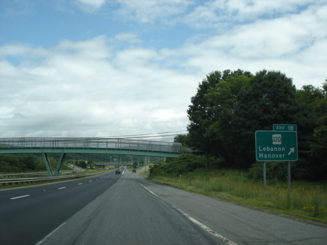 Interstate 89 South at Exit 18 - NH 120