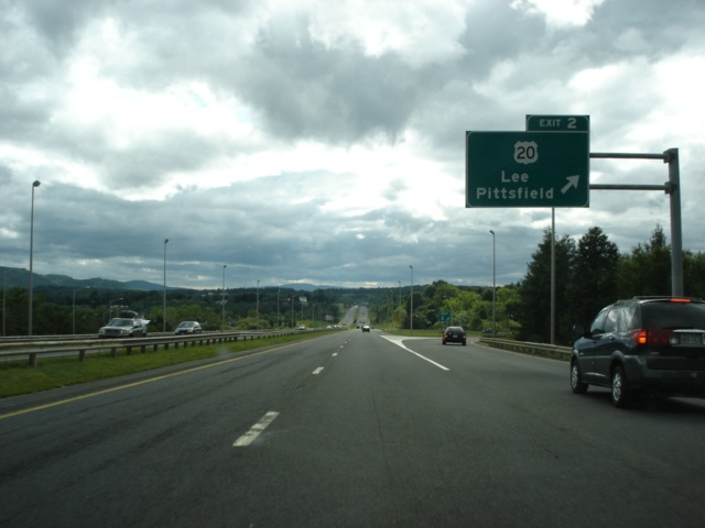 Interstate 90 West at Exit 2 - U.S. 20