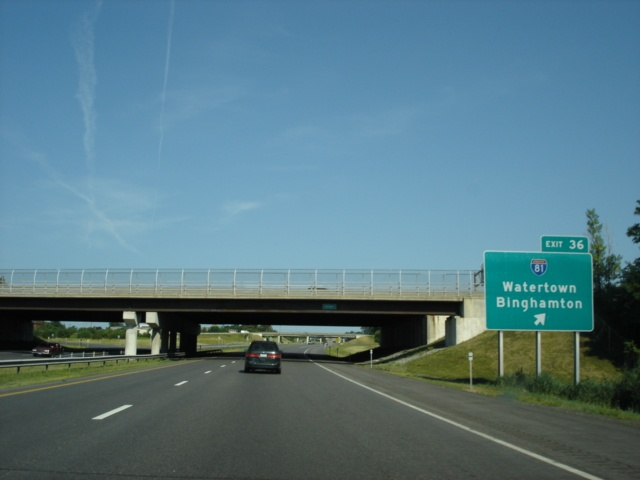 Interstate 90 West at Exit 36 - Interstate 81