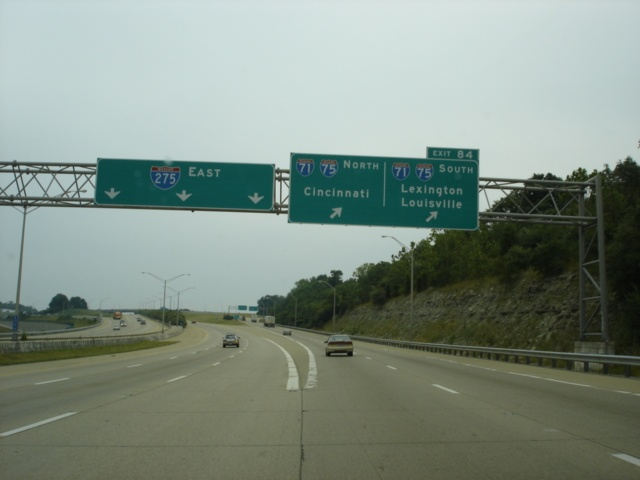 Interstate 275 East at Exit 84 - Interstate 71/Interstate 75