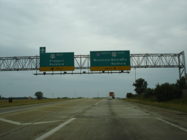 Interstate 39 North at U.S. 20 West