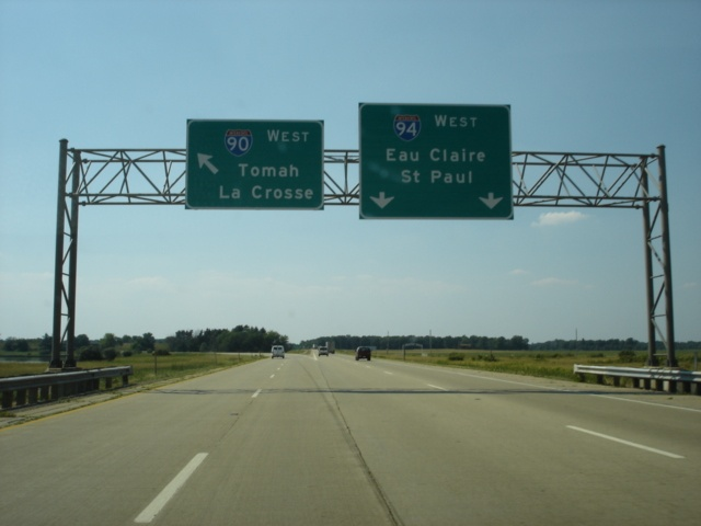 Interstate 90/Interstate 94 West at Exit 45 - Interstate 94 West