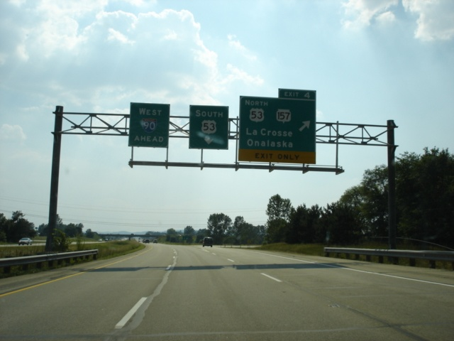 Interstate 90 West at Exit 4