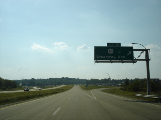 U.S. 52 North at Exit 51 - U.S. 63