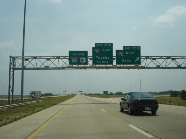 Interstate 135 and U.S. 81 South at Exit 95B - Interstate 70 West