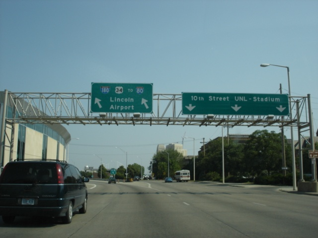 U.S. 34 West at the beginning of Interstate 180 North
