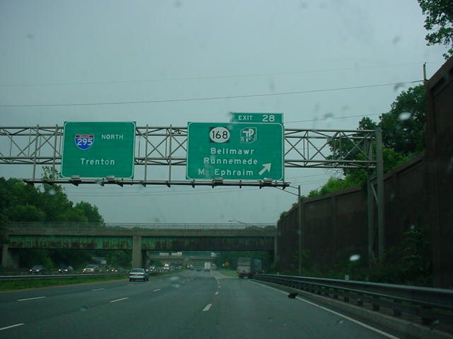 Interstate 295 North at Exit 28