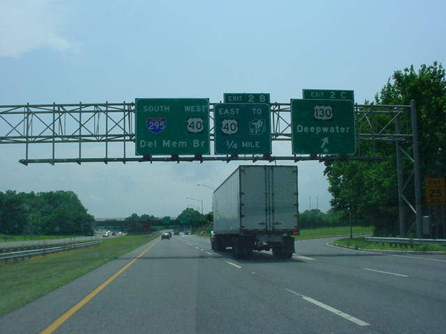 Interstate 295 South at Exit 2C - U.S. 130