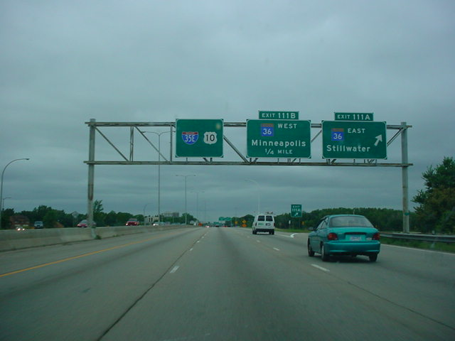 Interstate 35E North at Exit 111A