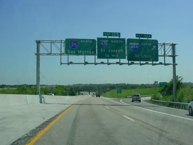 Green Interstate Sign