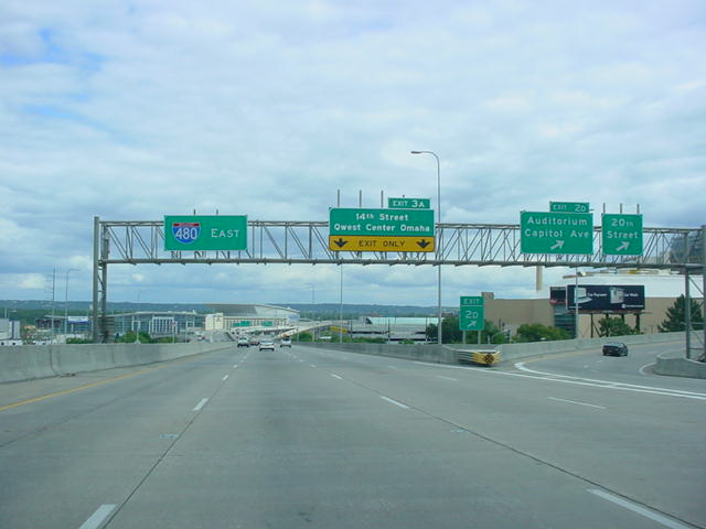 Interstate 480 East at Exit 2D - 20th Street