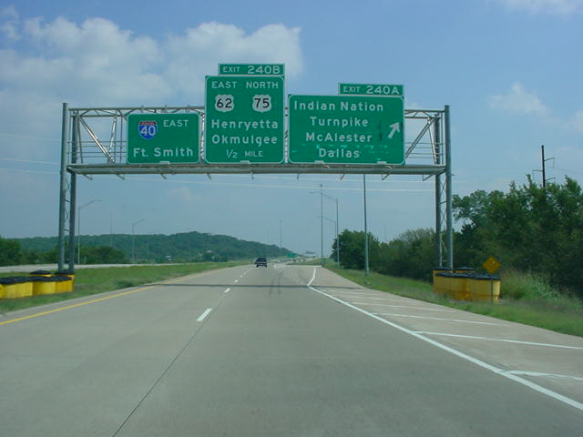 Interstate 40 East at Exit 240A - Indian Nation Turnpike