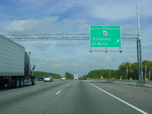 Interstate 95 North at Exit 3 - Georgia 40
