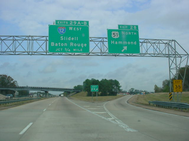 Okroads bayous blues roadtrip interstate 55 louisiana interstate 55 north at exit 28 us 51 north hammond interstate 12 is approaching in 34 mile publicscrutiny Images