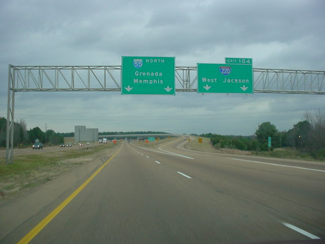 Interstate 55 North at Exit 104 - Interstate 220 South